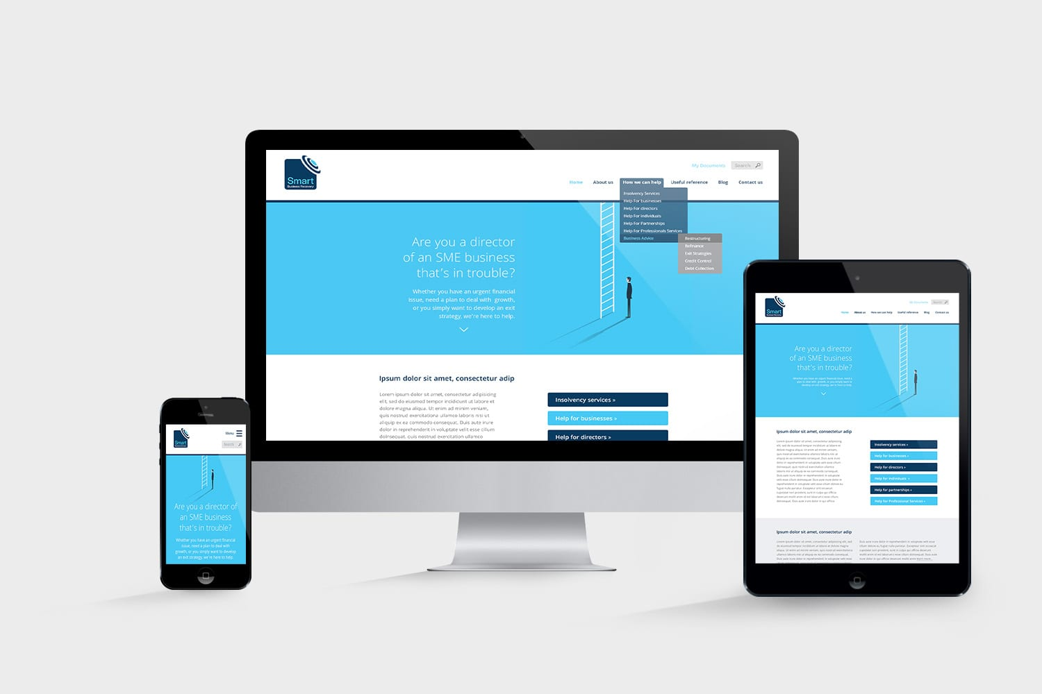 Website design and build for Smart Business Recovery