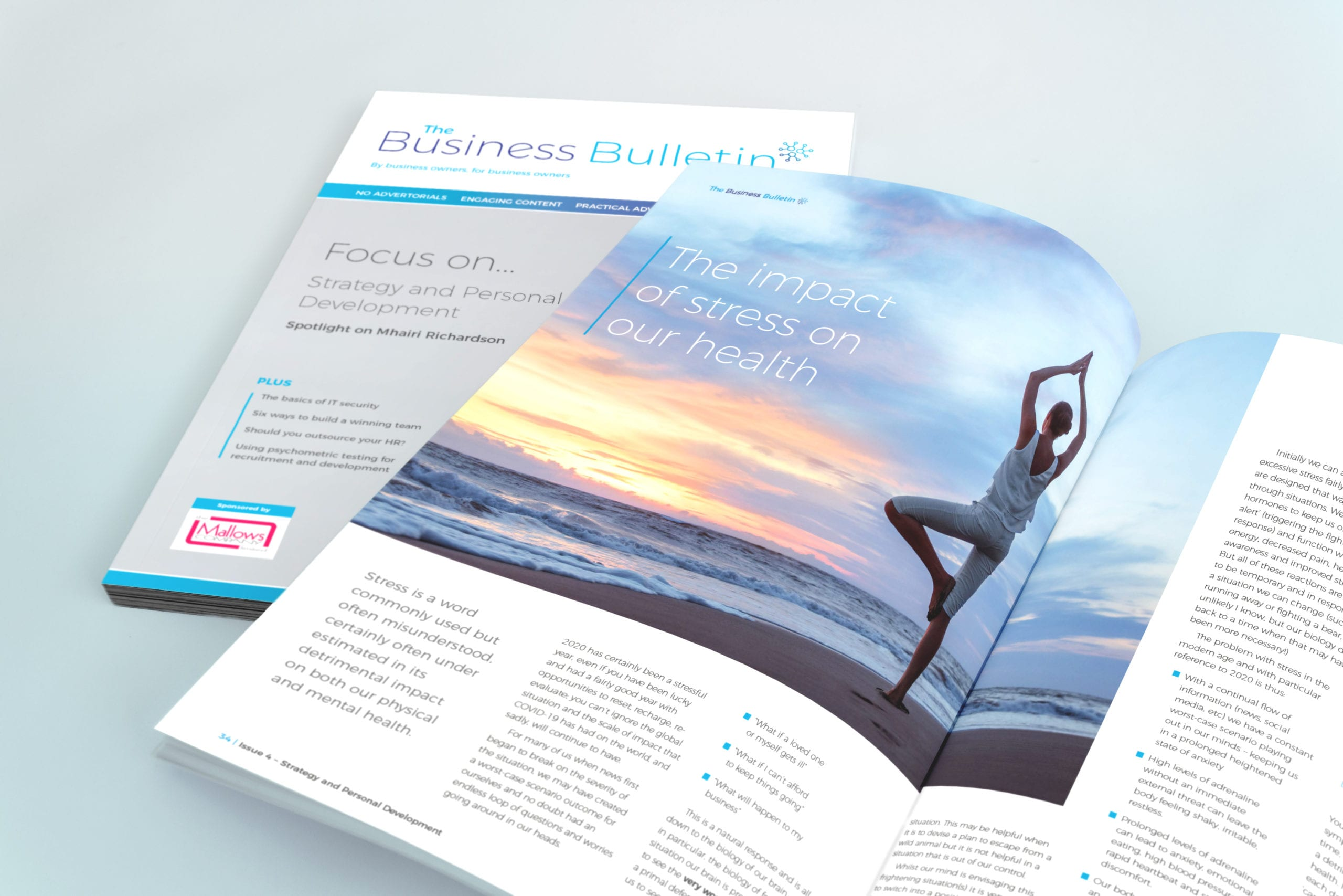 Design for strategy and personal development magazine