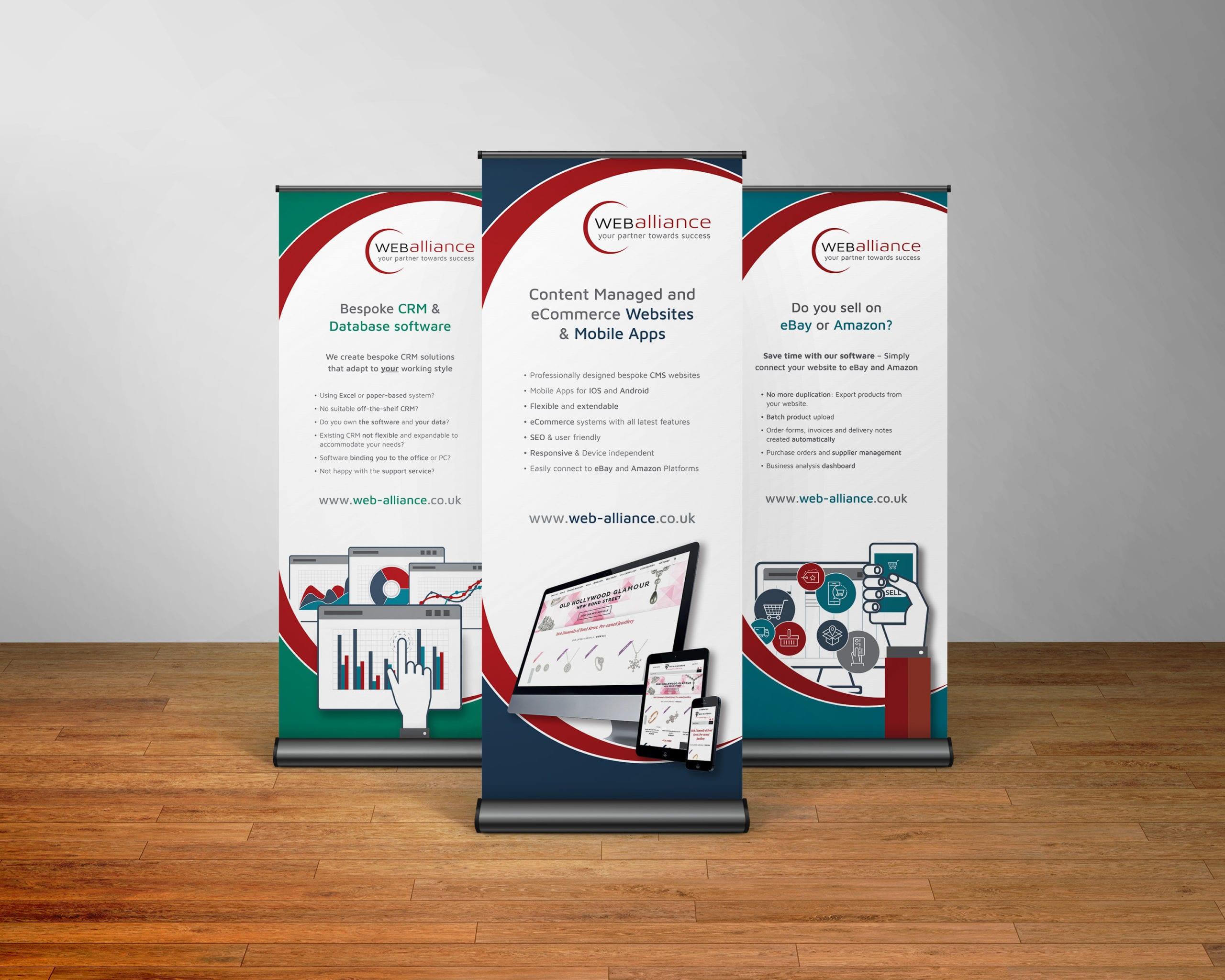 Roller banner designs for Web Alliance