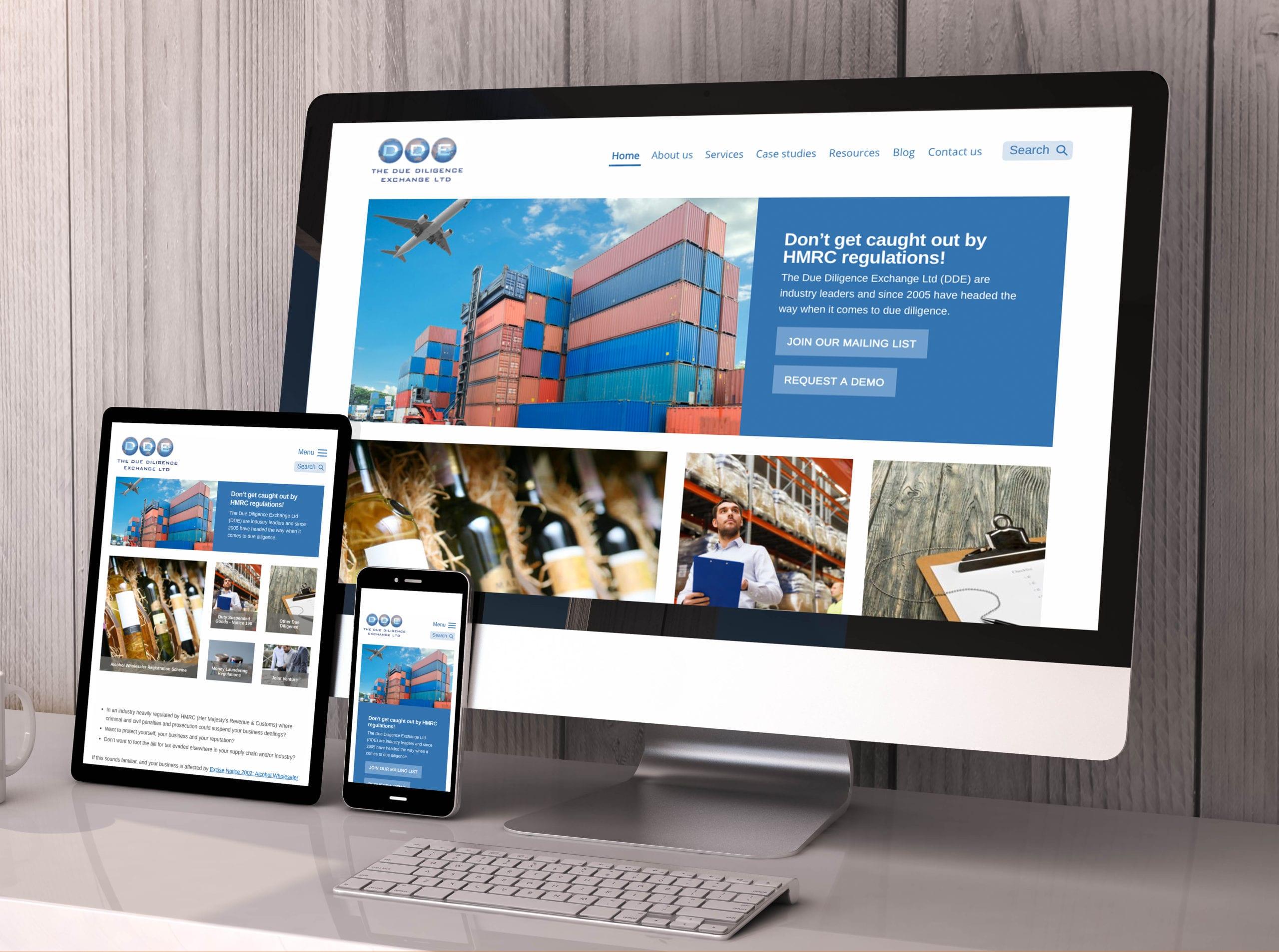 Website design for The Due Diligence