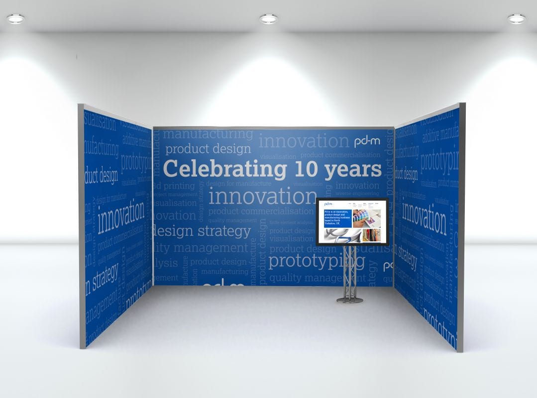 Exhibition backwalls design for Pd-M International