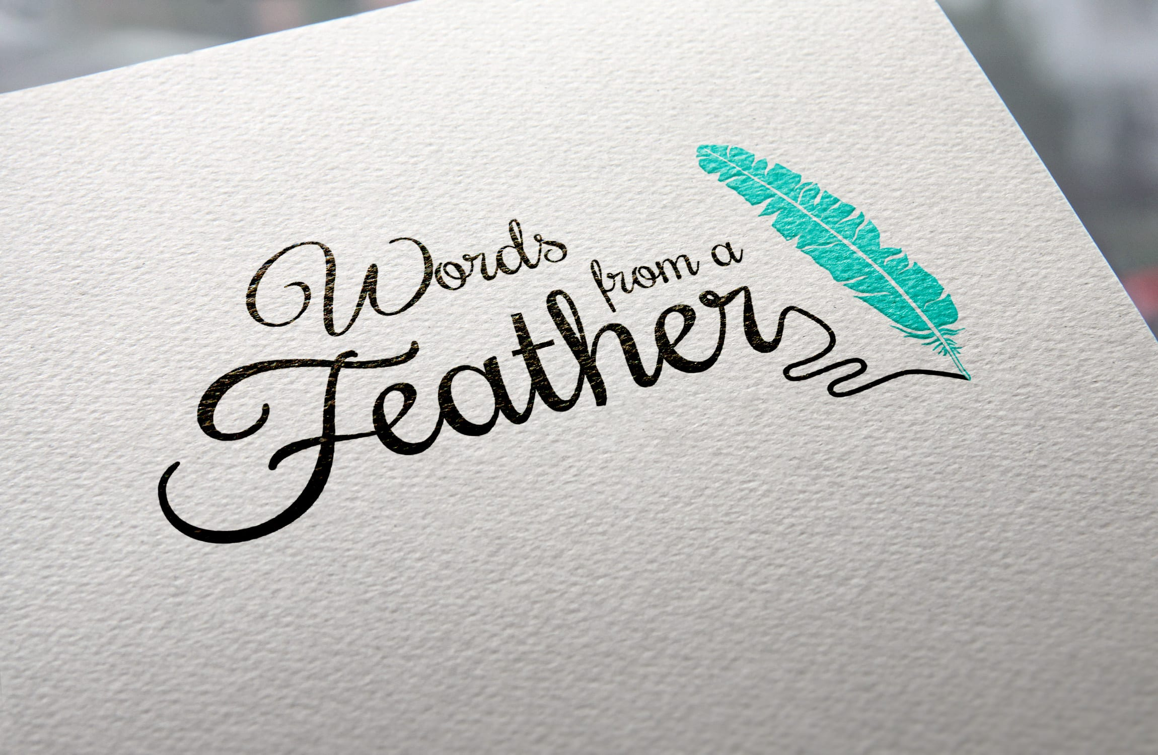 Logo design for Words from a Feather