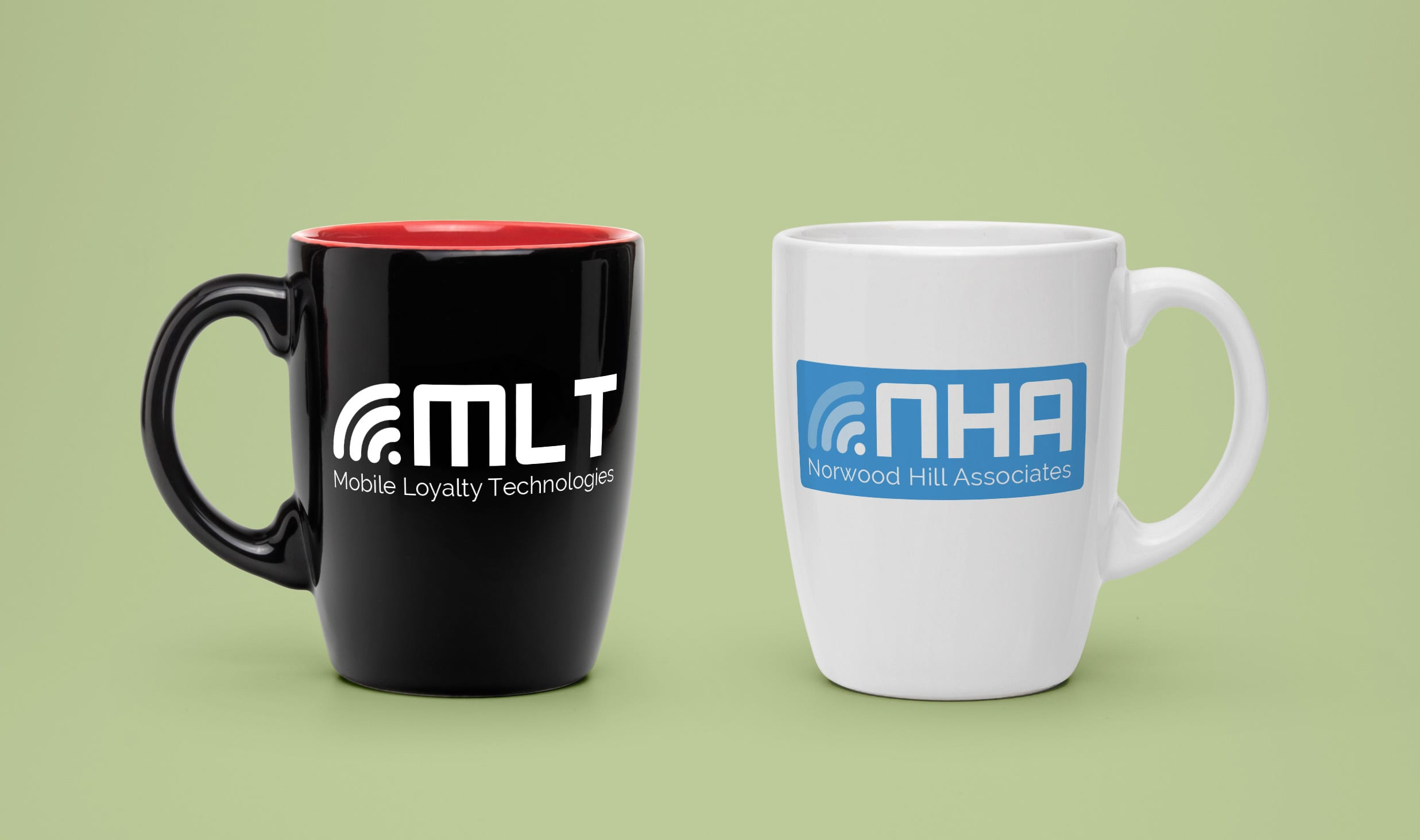 logo designs for Mobile Loyalty Technologies and Norwood Hills Associates