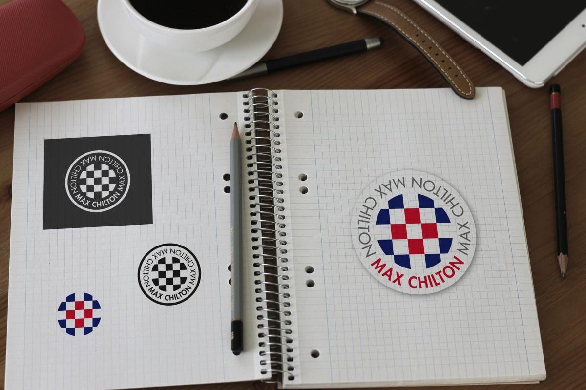 Motor racing logo design for Max Chilton