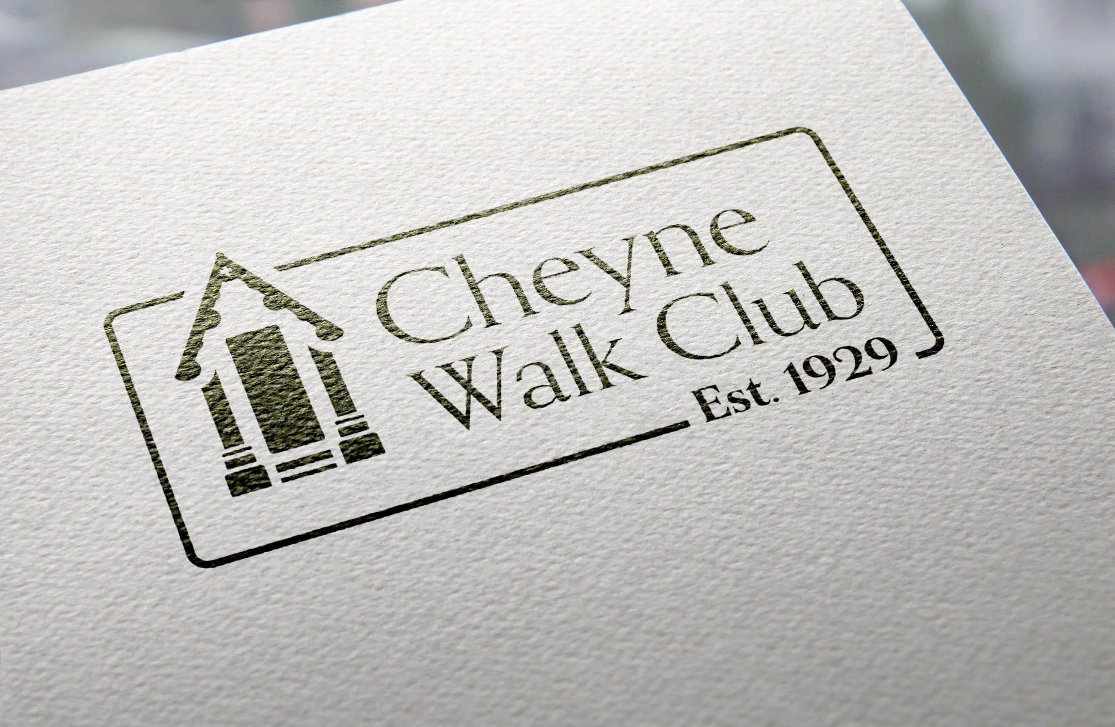 Logo design for Cheyne Walk Club