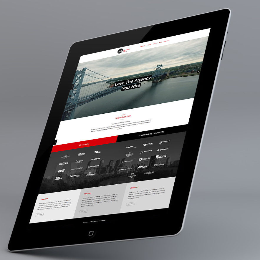 Website visual design for Angled Crown