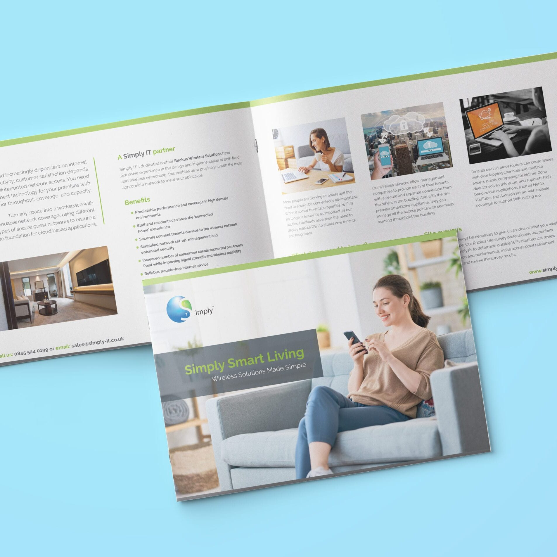 Wi-fi leaflet design for Simply IT
