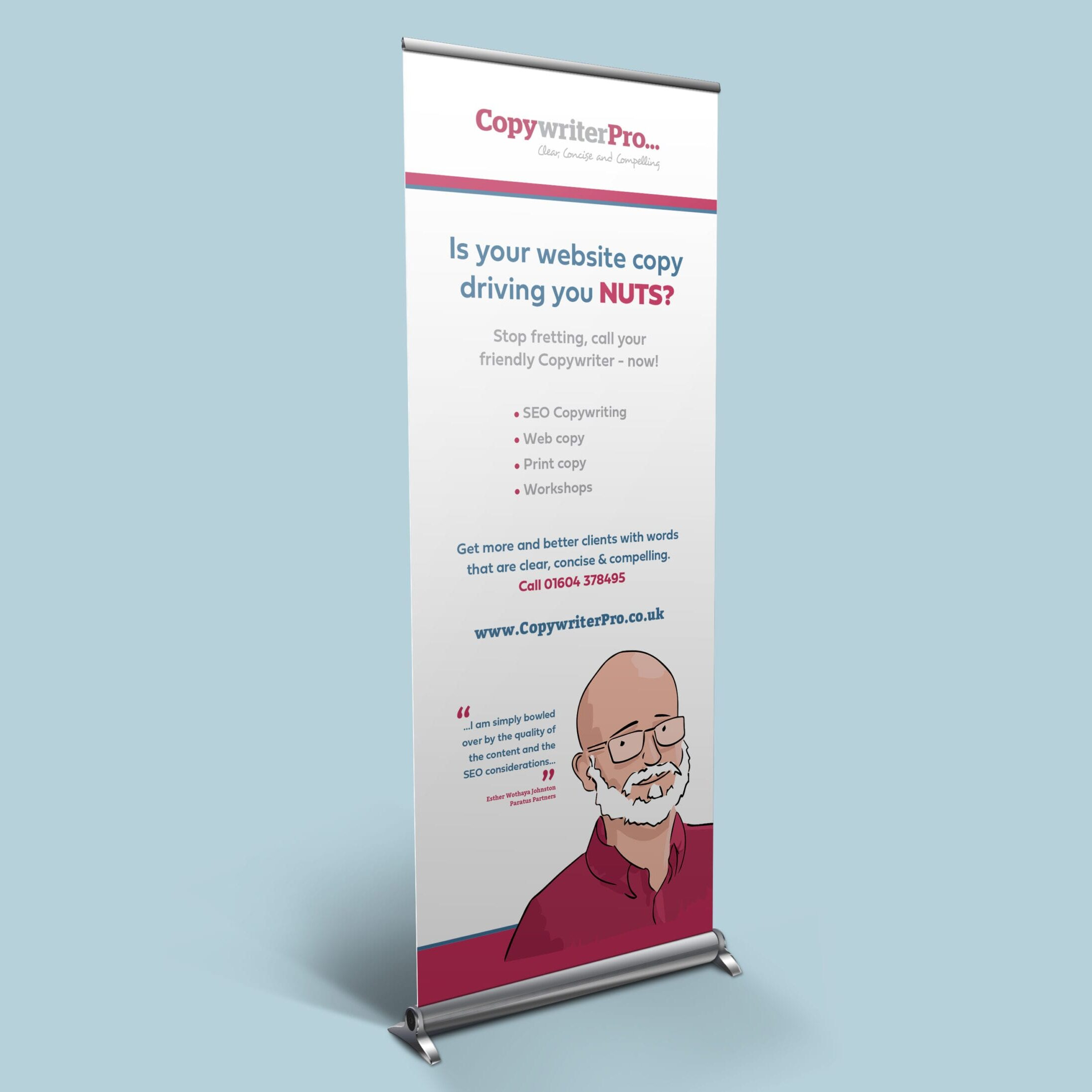 Roller banner design for Copywriter Pro