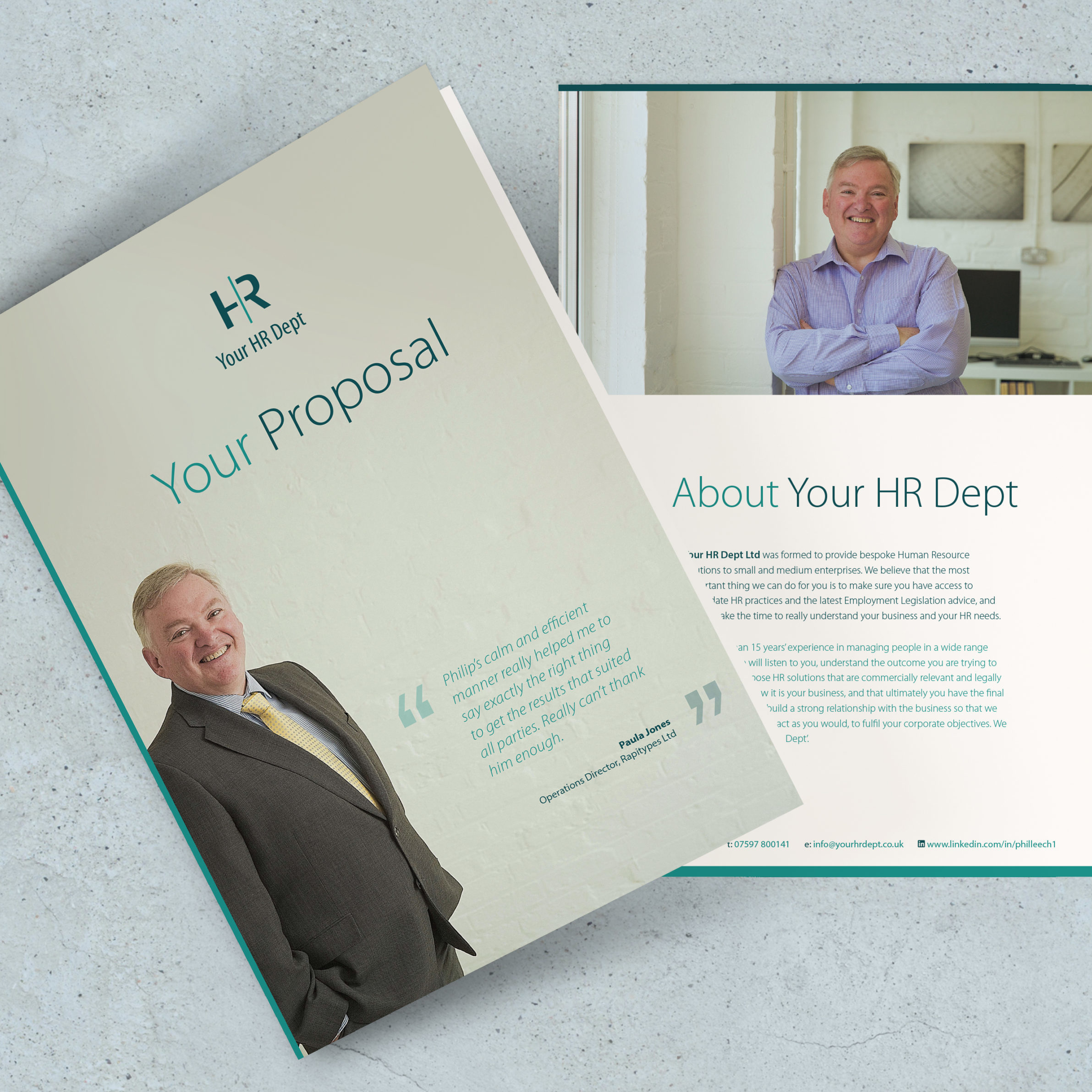 Proposal covers design for Your HR Dept