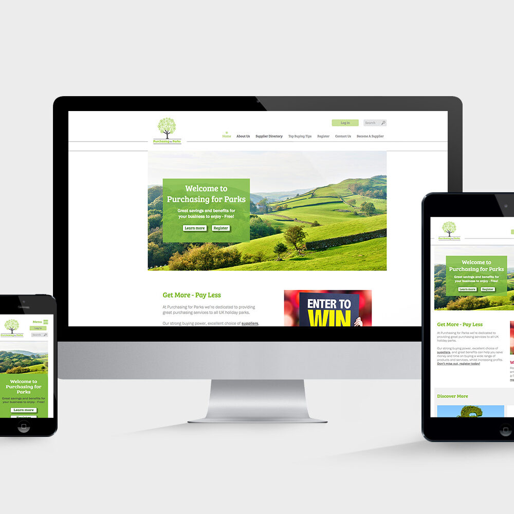 Website design for Purchasing for Parks