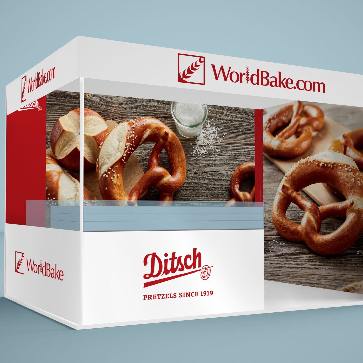 Exhibition graphic panel designs for Worldbake