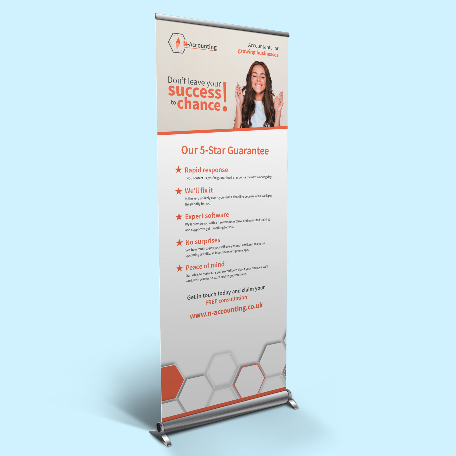 Roller banner design for Northants Accounting