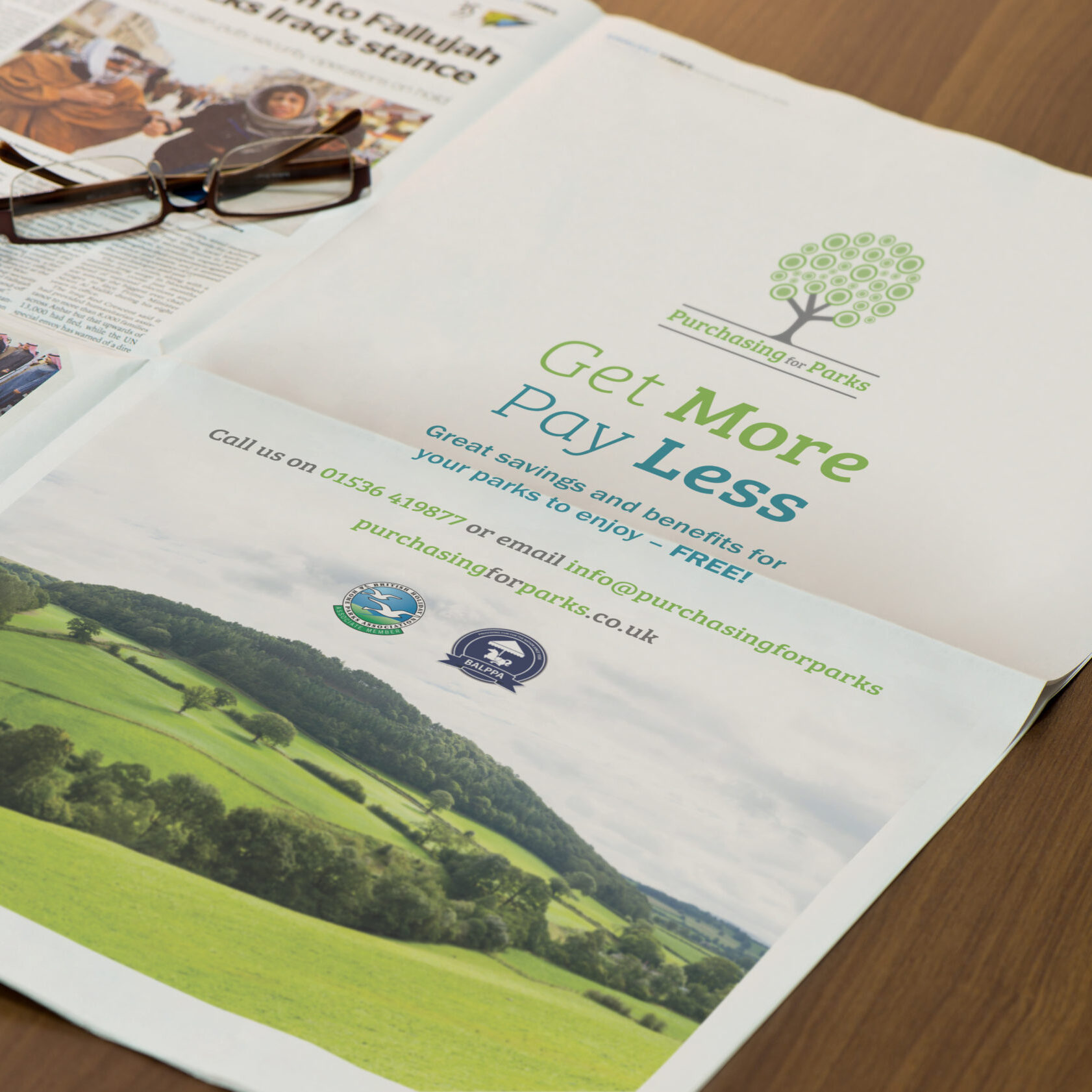 Tradeshow advert design for Purchasing for Parks