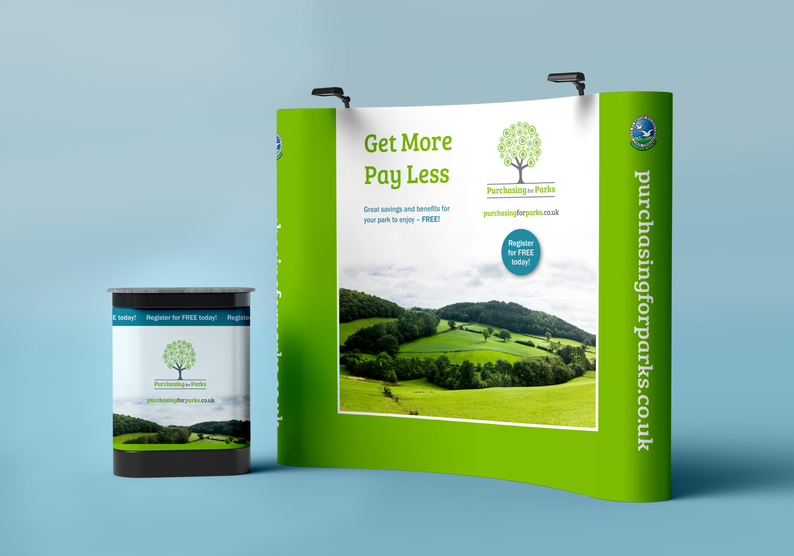 Popup display design for Purchasing for Parks