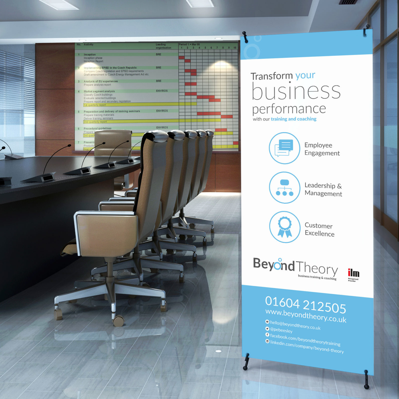 Roller Banner design for Beyond Theory
