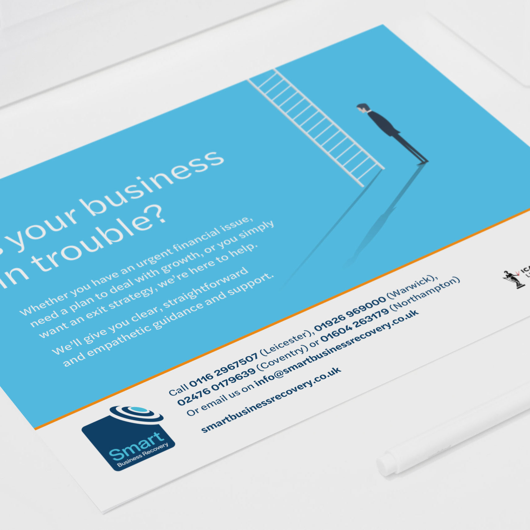 Print advert design for Smart Business Recovery