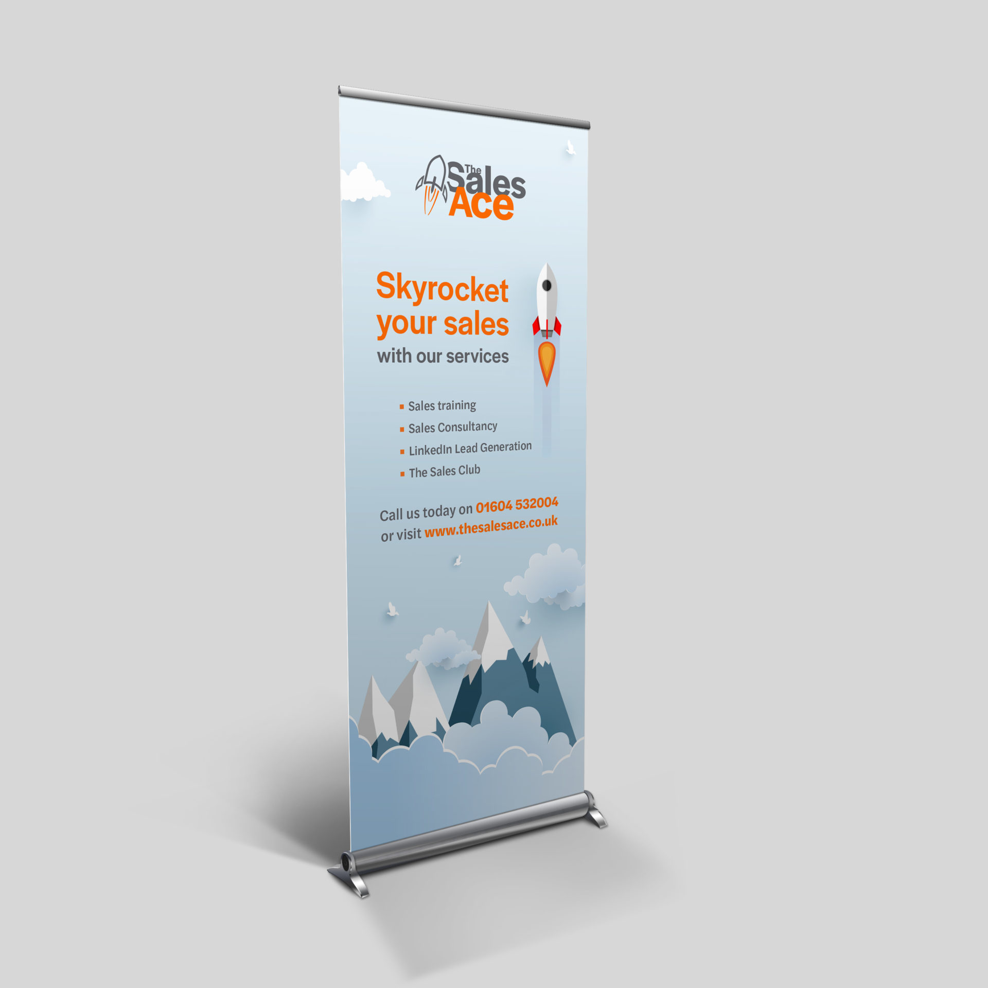 Roller Banner design for The Sales Ace