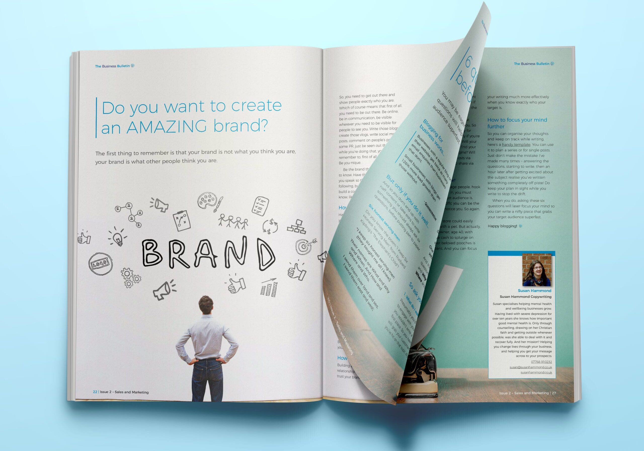 Magazine article design from Sales and Marketing issue