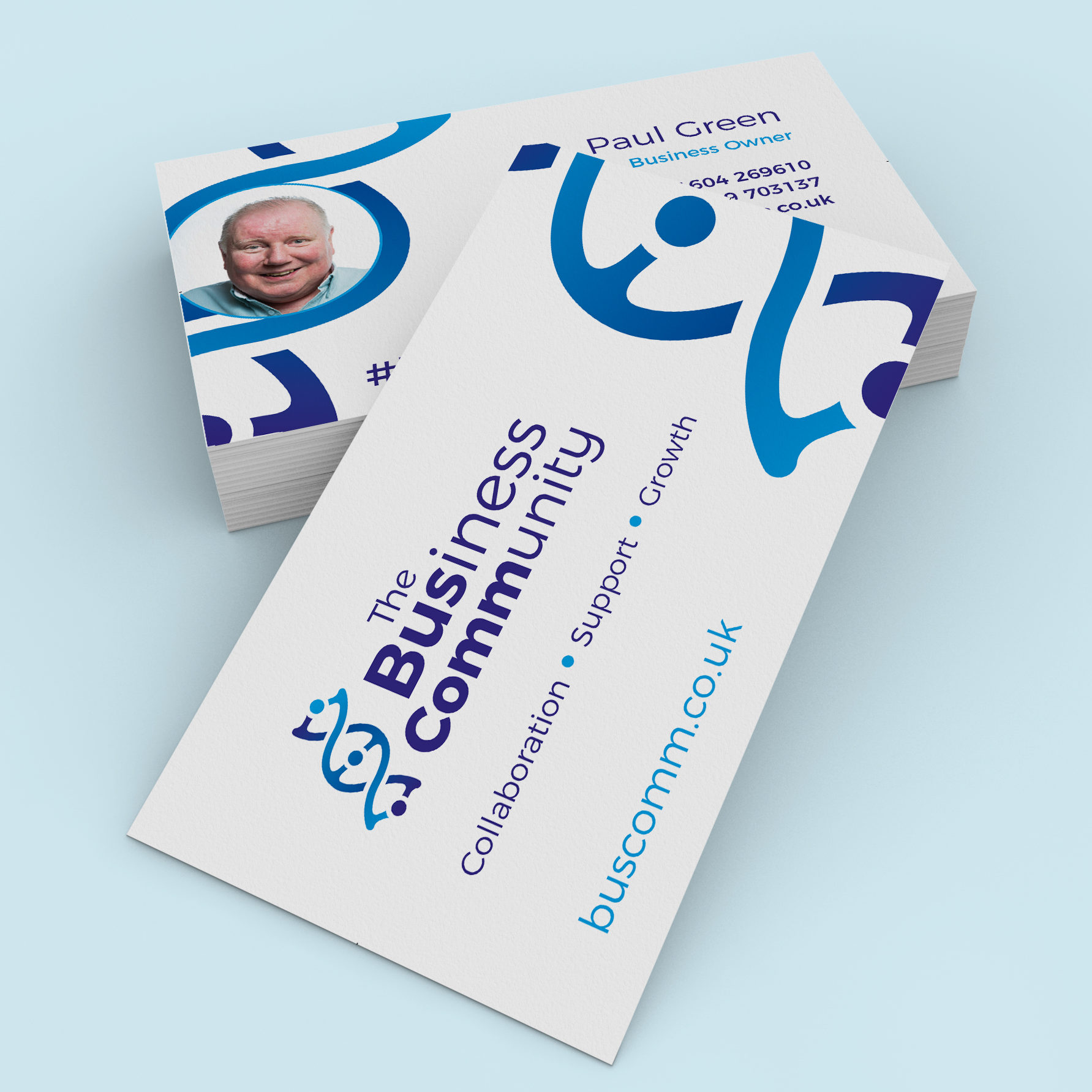 Business cards design for The Business Community
