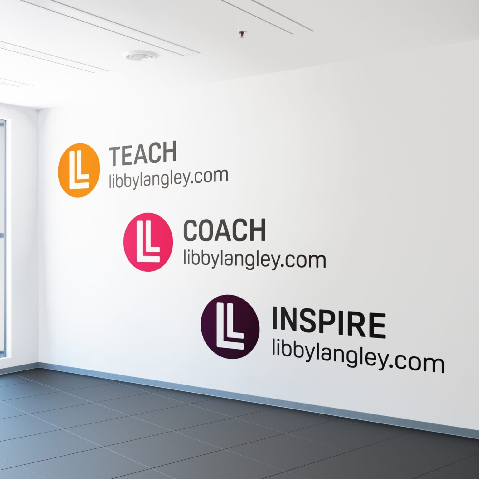 Separate icons created as part of branding project for Libby Langley
