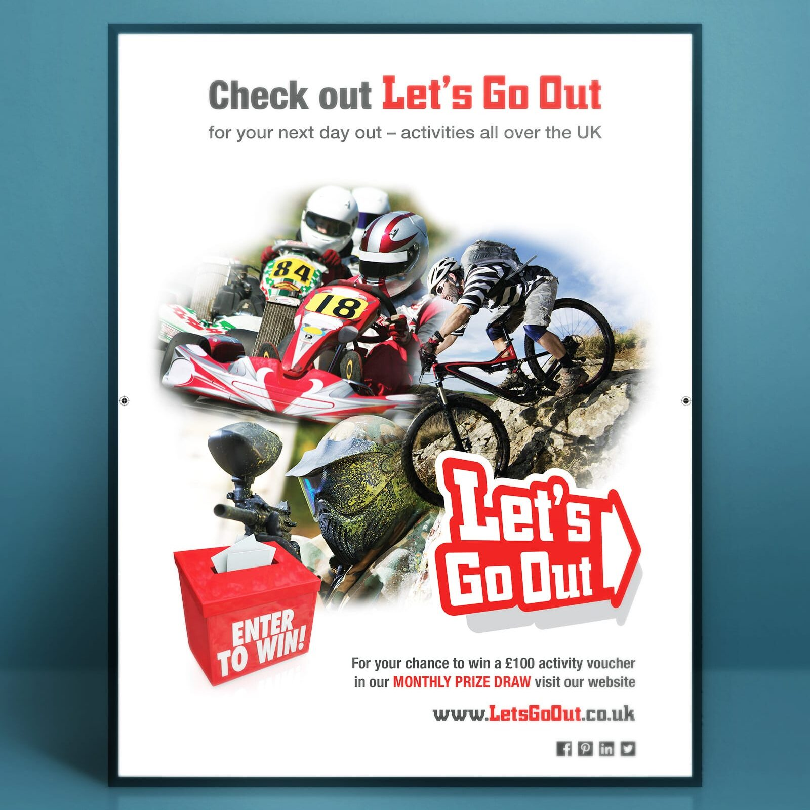Poster design for Let's Go Out